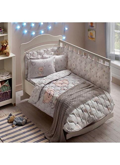 TAÇ Bebek Ranforce Uyku Seti Gri